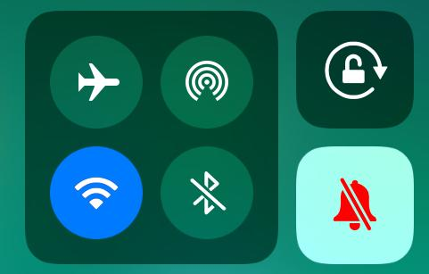 Silent Mode in Control Center